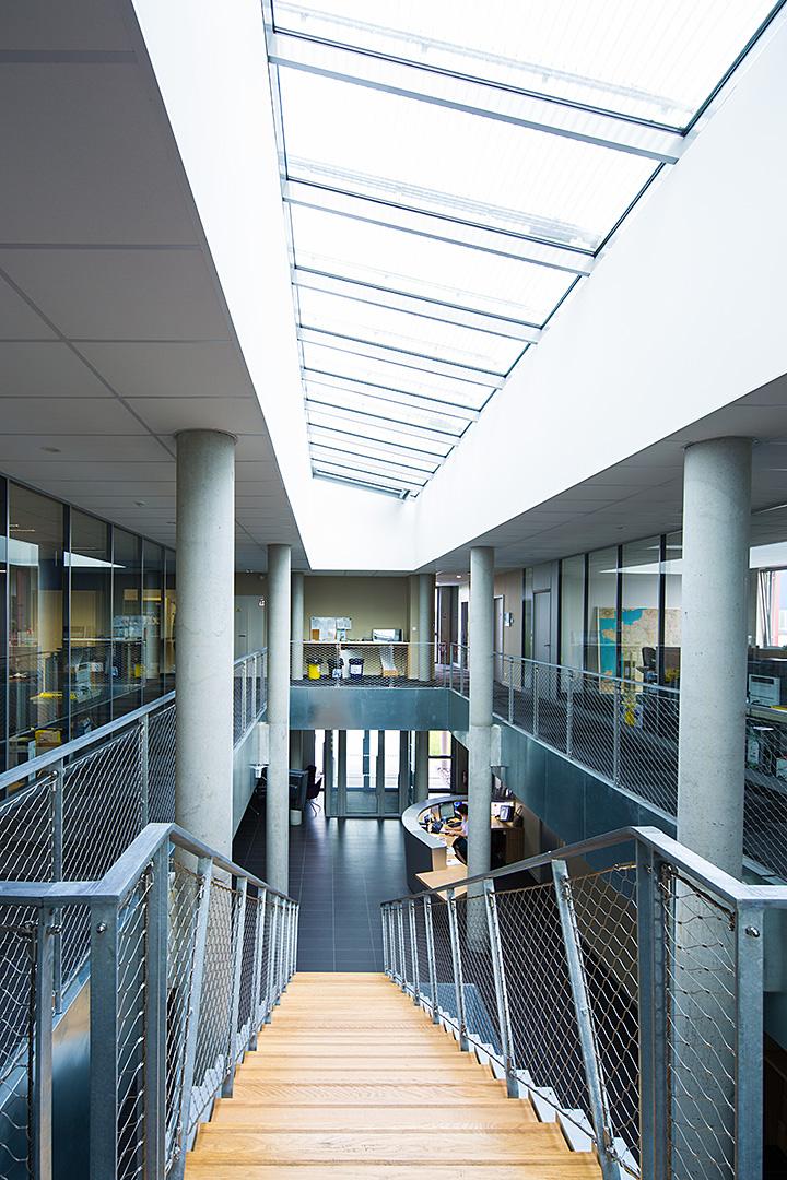 intérieur du bâtiment